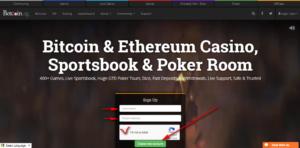 Betcoin Poker главная страница