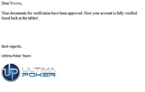 Письмо от Ultima poker